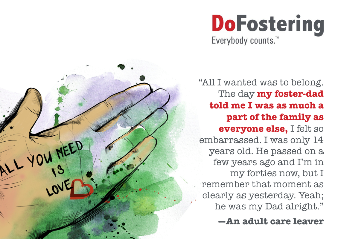 Children in foster care need love